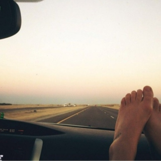 road tripping.