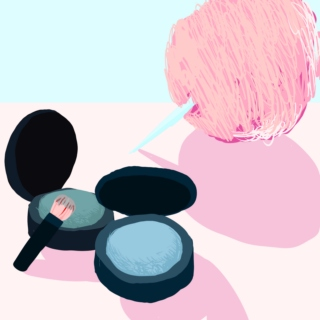 eyeshadow and cotton candy