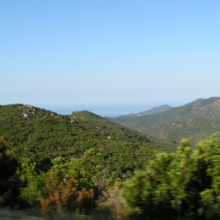Driving in the hills of Corsica