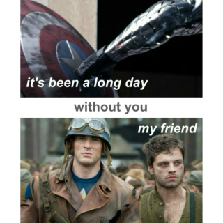 it's been a long day without you, my friend (a steve/bucky fanmix)