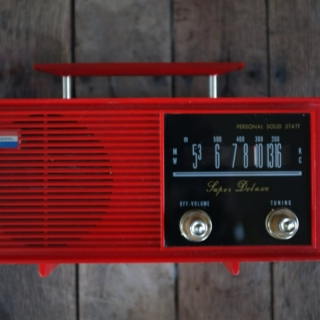 A little red radio