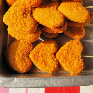 ♡ heart shaped chicken nuggets ♡