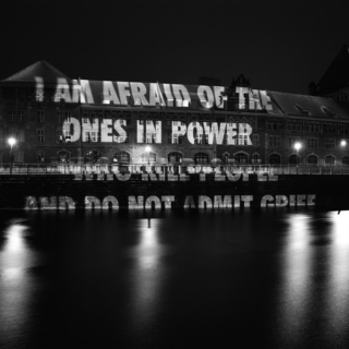that aesthetic with the black and white photographs and jenny holzer quotes