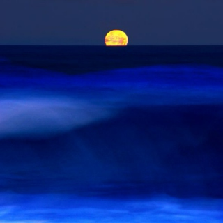 Moon Over A Blue Sea