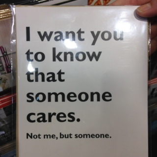 someone cares.not me