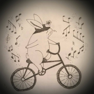 The Bunny Decides It's Bicycle Weather