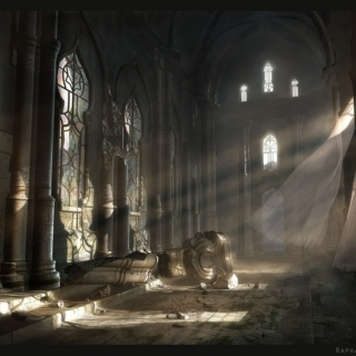 Dawn on the Ancient Hall