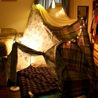 blanket forts and snuggles and mugs