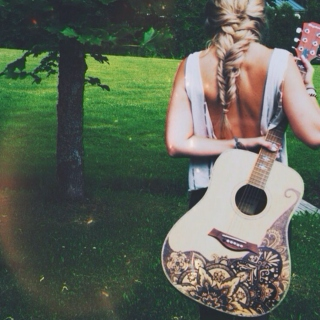 Nothing but acoustic guitar
