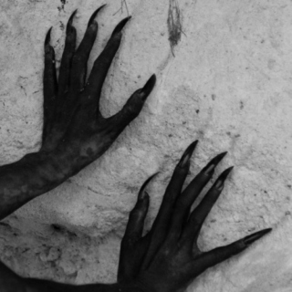 hands flat on the wall