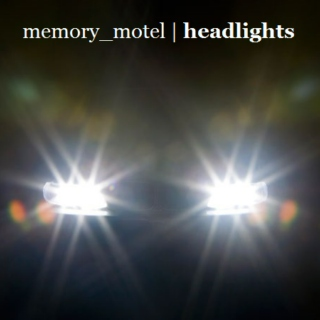 headlights on dark roads