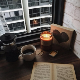 a good book & warm coffee