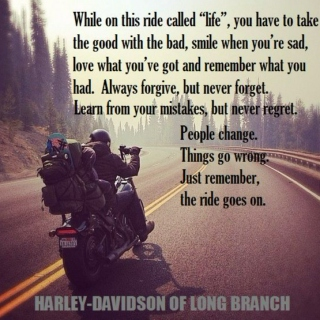 Riding Harley Davidson