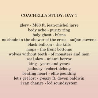 coachella 2016 study: day 1