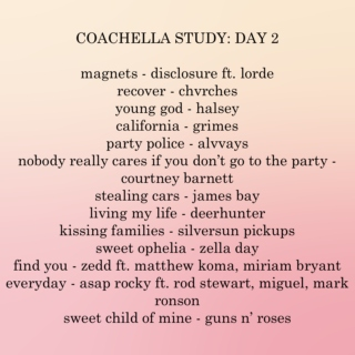 coachella 2016 study: day 2