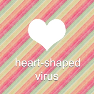 heart-shaped virus