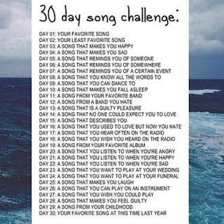 30 Song Challenge 2015