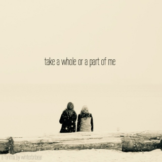 take a whole or a part of me