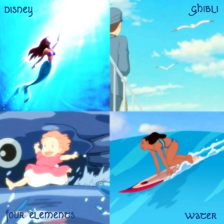 Disney and Ghibli four elements - Water