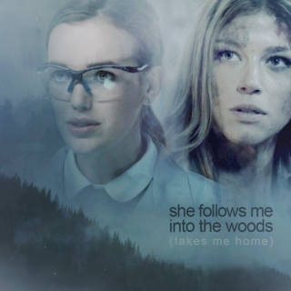 she follows me into the woods (takes me home)