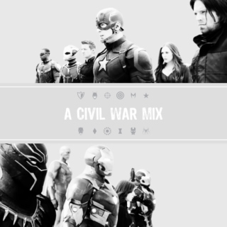 Team Cap + Team Iron Man - A Civil War Mix