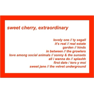 sweet cherry, extraordinary