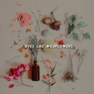 eyes like wildflowers.