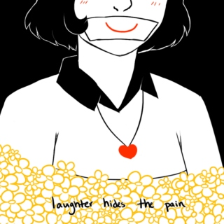 laughter hides the pain