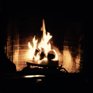 sleepless in front of the fire