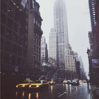 rainy new york
