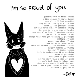i'm so proud of you.