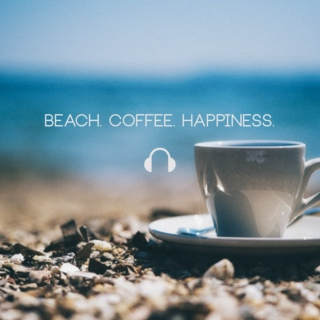 Beach. Coffee. Happiness.
