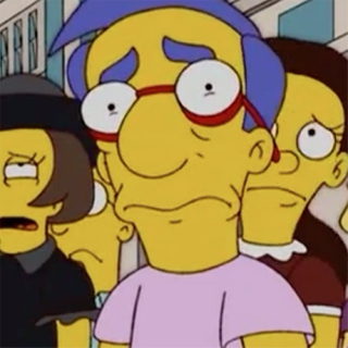 Sad Milhouse