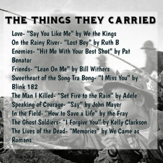The Things They Carried Playlist