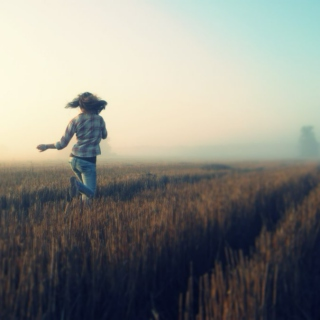 running through wheat fields