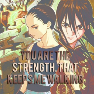 You are the strength that keeps me walking - Wufei/Melian mix