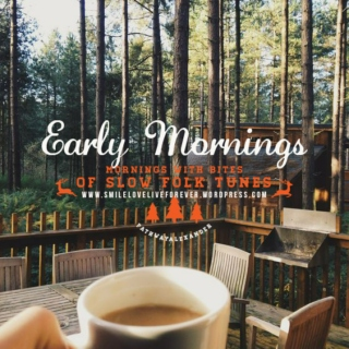 mornings with bites of slow folk tunes, quite folk early mornings.