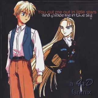 You cut me out in little stars and place me in the sky - a Quatre/Dorothy mix