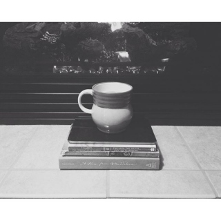 a cup of coffee and a good book