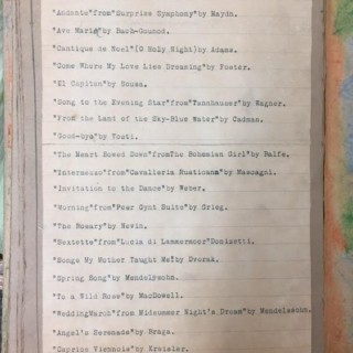 A 14 year old girl's playlist from 1928