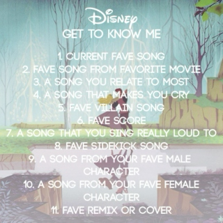Get to Know Me: Disney Edition