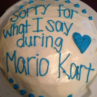 sorry for what i say during mariokart