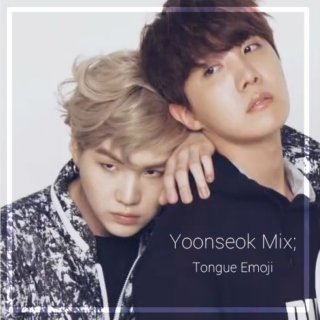 yoonseok mix; tongue emoji