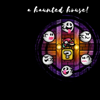a haunted house!