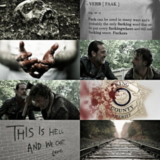 [Negan/Rick] one day he might lose his Crown