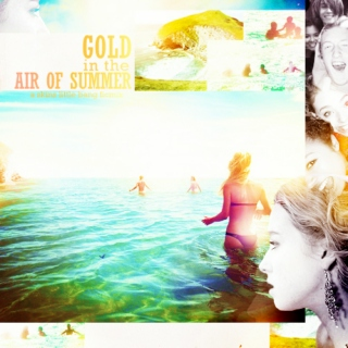 gold in the air of summer