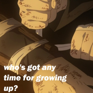 who's got any time for growing up?