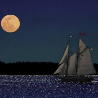 *Midnight, on the water