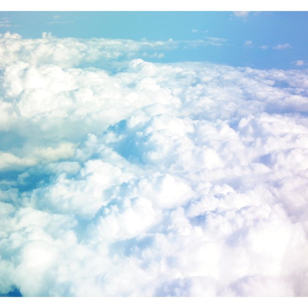 Somewhere over the clouds.