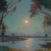 The Bank of Loire under Clear Moon